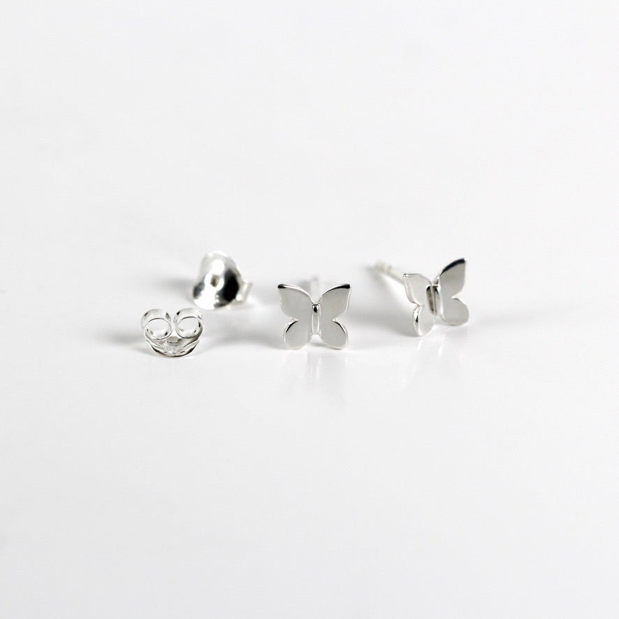 Butterfly Sterling Silver Stud Earrings