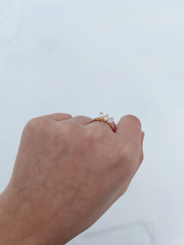 Image of The Tri-Crystal Ring
