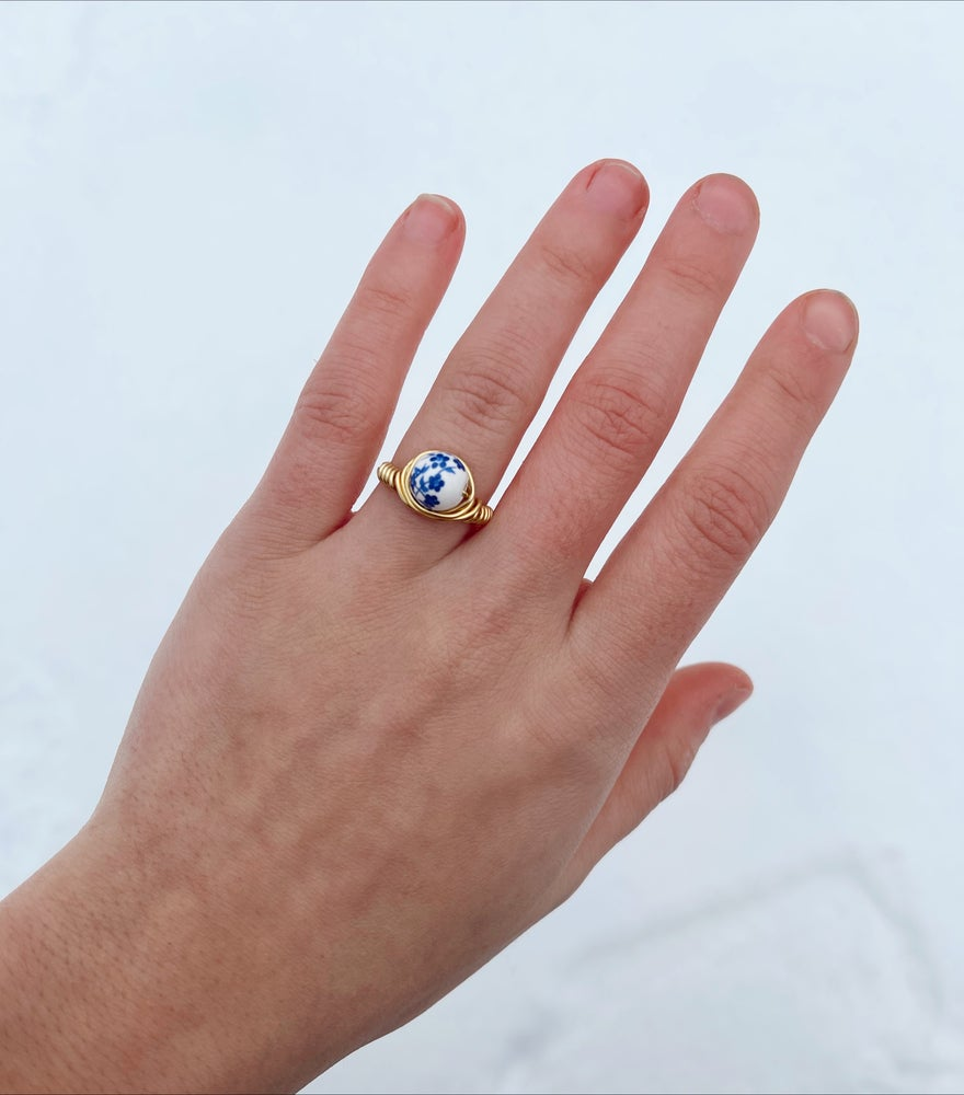 Image of The Blue Flowered Ring