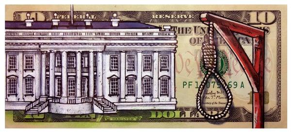 Image of Real 10 Dollar Original. American Justice.