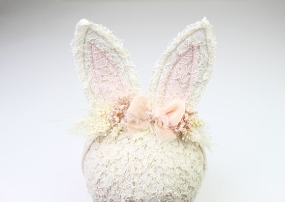 Image of Wired Sitter-Adult Boho Bunny Tieback - F