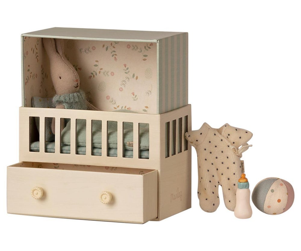 Image of Maileg - Baby Room with Micro Rabbit (Pre-order)