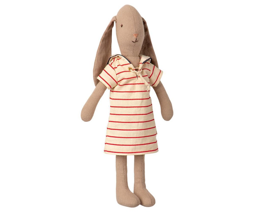 Image of Maileg - Bunny Size 2 Striped Dress (Pre-order)