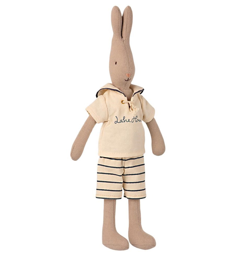 Image of Maileg - Rabbit Size 2 Sailor white-petrol (Pre-order)