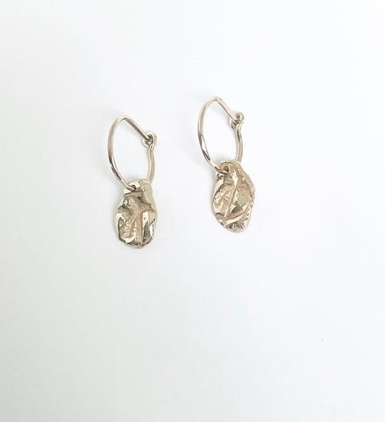"Image of ""&"" Medallion hoop earrings in solid 9ct Gold"