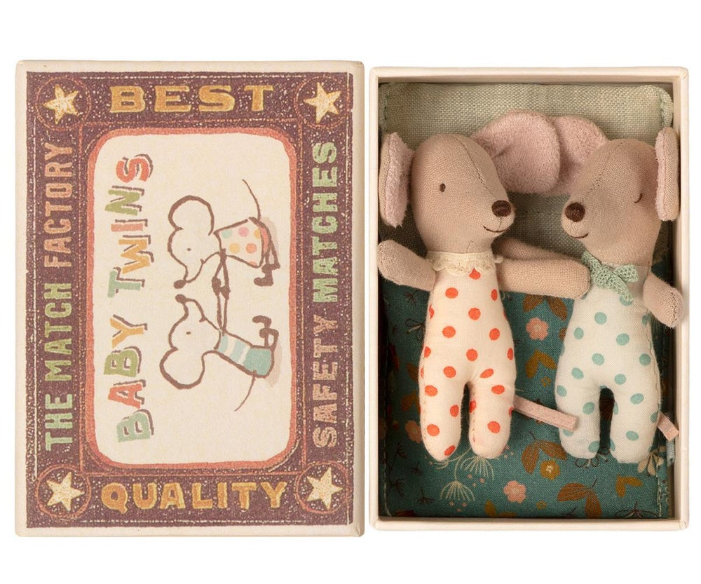 Image of Maileg - Twins Baby Mice in box