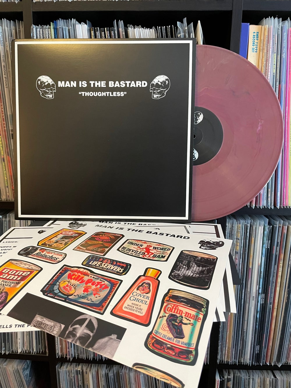 """MAN IS THE BASTARD """"Thoughtless"""" LP"""