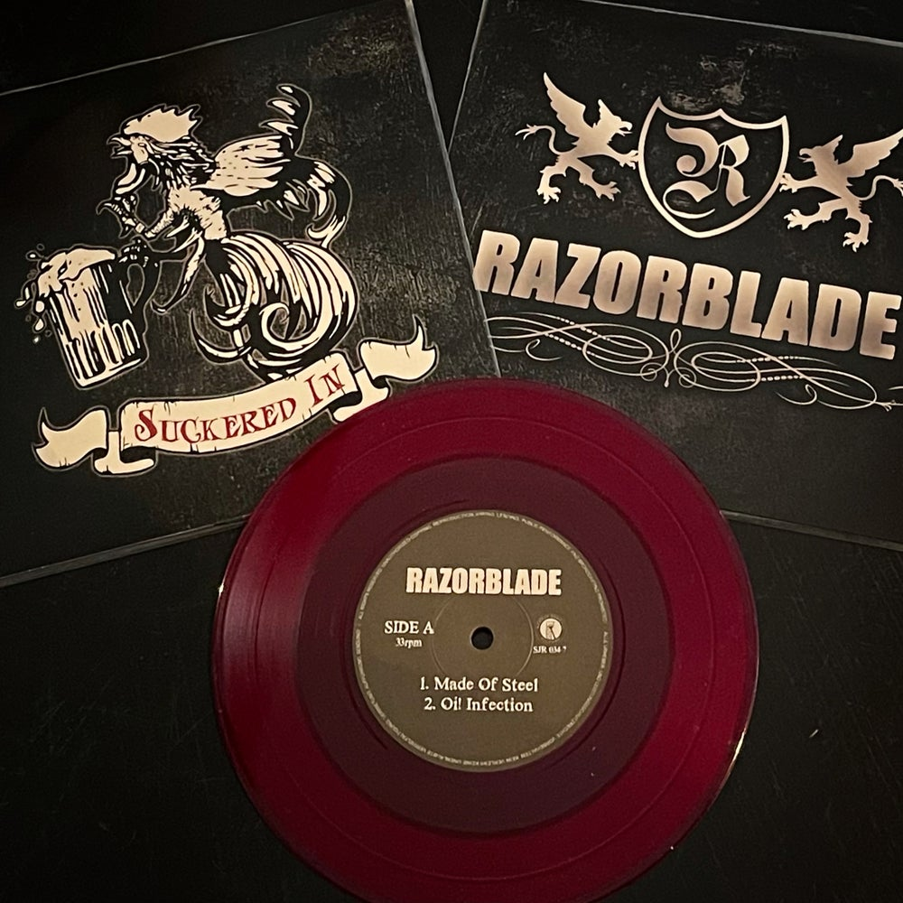 Razorblade / Suckered In - Split 7""