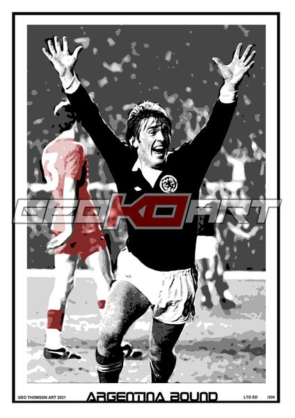 Image of KENNY DALGLISH SCOTLAND WALES PLAY OFF 78