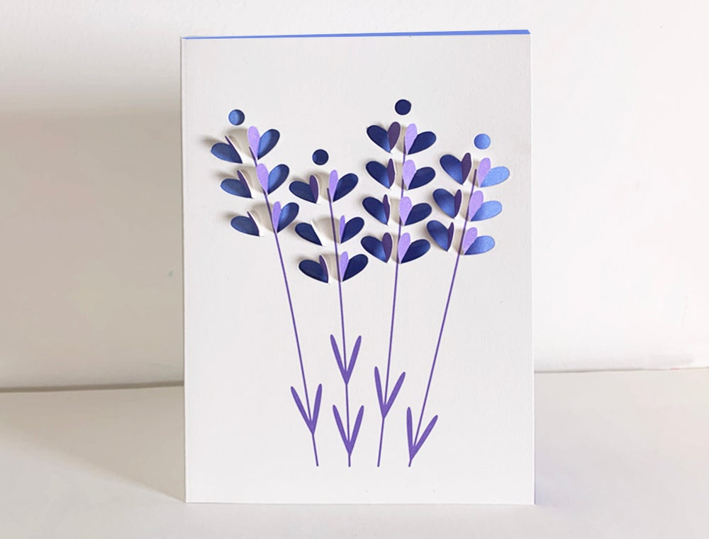 Image of 2 x Lavender - Fold Out Cards