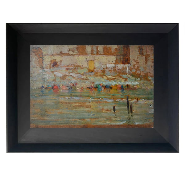 Image of Early 20thC,  French, Oil Painting, 'Les Lavandières.'