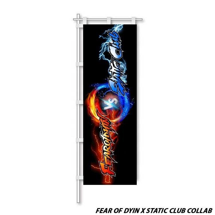 Fearofdyin x static club flag