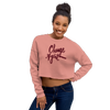 Burgundy Script Crop Sweatshirt