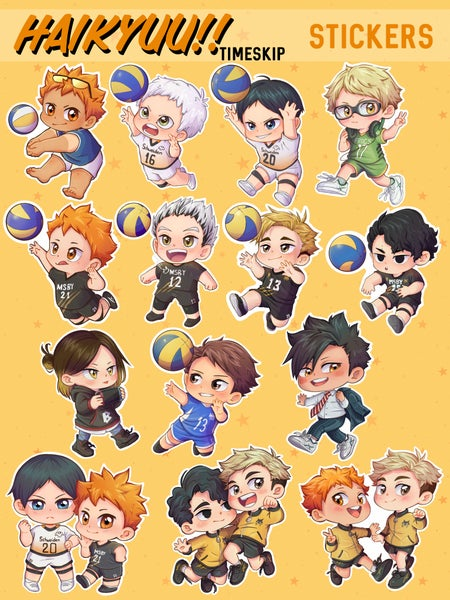 Image of Haikyuu!! Time Skip Stickers