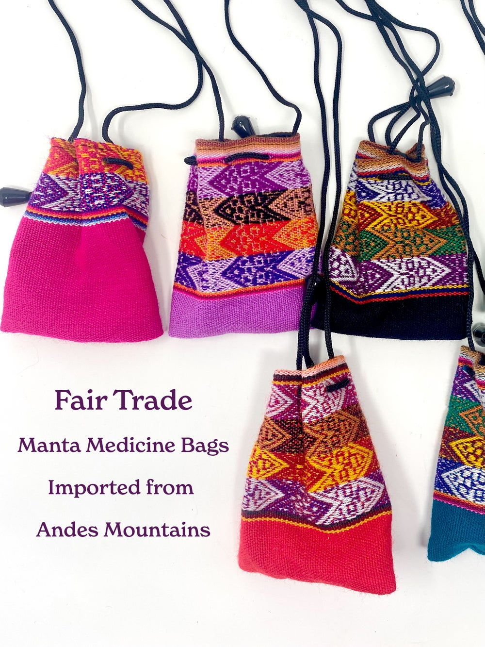 Image of Fair Trade Manta Medicine Bags | Sacred bags for crystals, herbs, coins