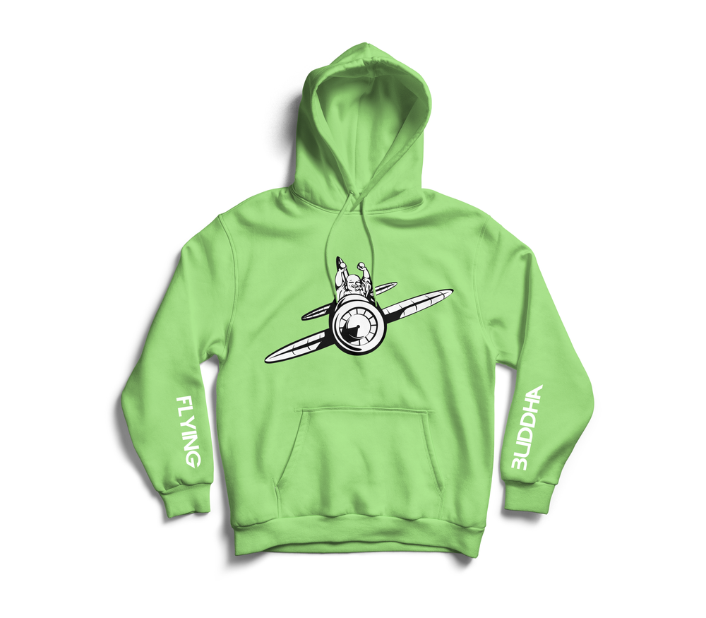 Image of Mint 'Flying Buddha' Sleeve Hoodie