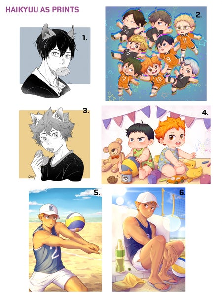 Image of Haikyuu  and Kagehina A5 prints