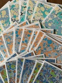 Marbled Notecards Shades of Blue