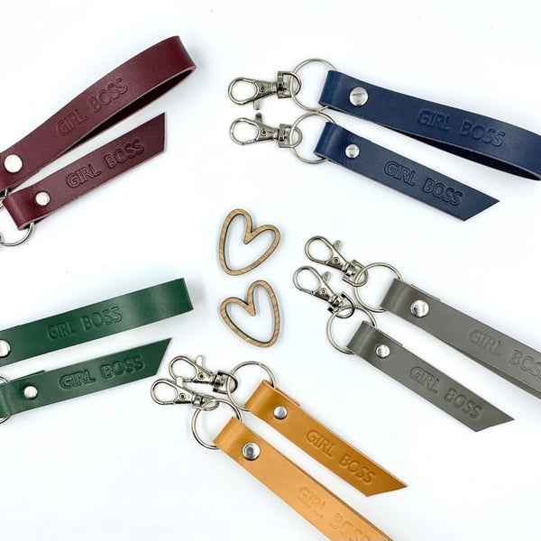 Image of Rosebuds leather keyrings