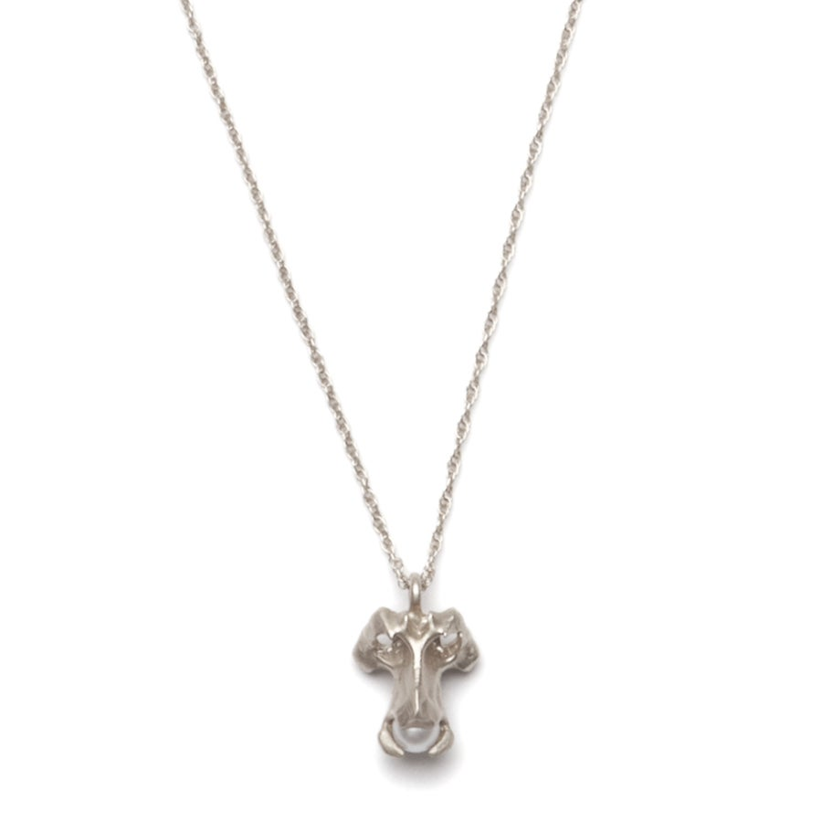Image of Silver Vertebrae Necklace with Pearl