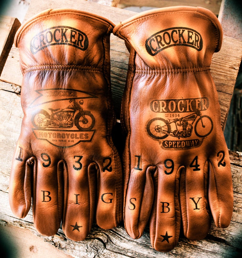 Image of Crocker Moto Co. Custom leather gloves