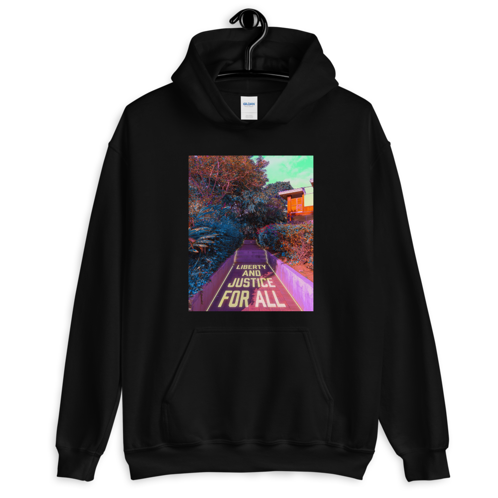 """Unisex Hoodie: """"Liberty and Justice for All"""" (donation)"""