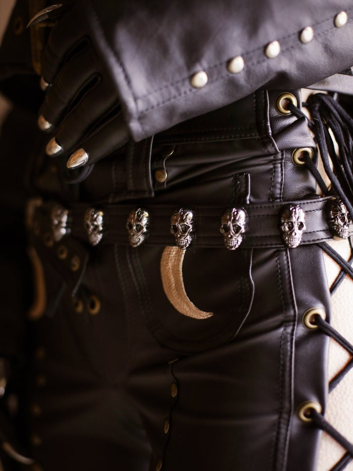 Image of Gun Metal Sacred Skull Belt