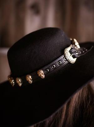 Image of Gold Sacred Skull Hatband/Wristband