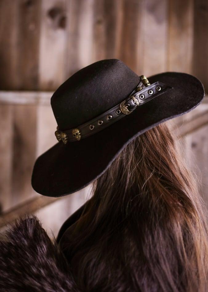 Image of Brass Sacred Skull Hatband / Wristband