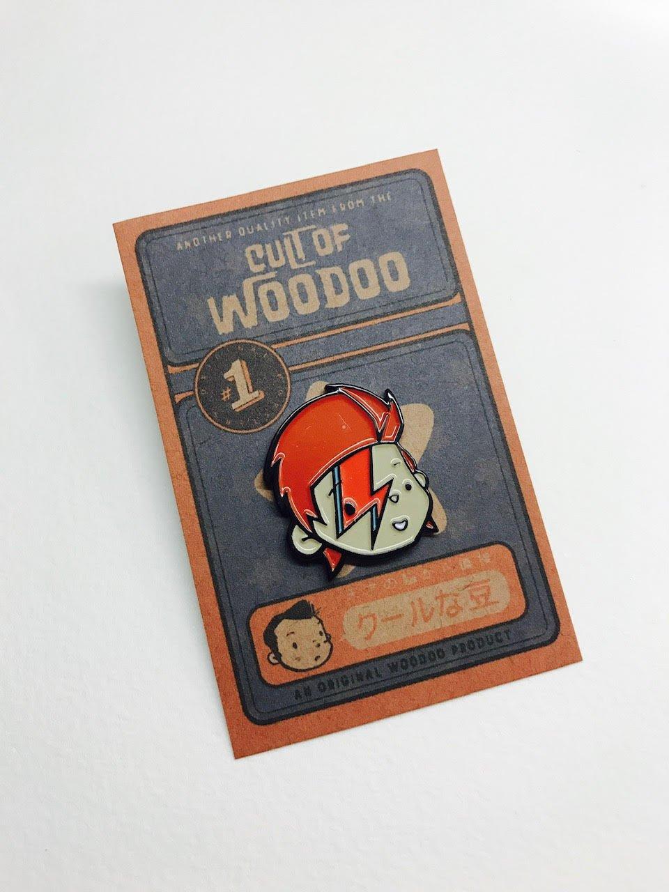 Cute Cartoon Bowie Badge/Pin