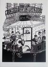 """""""Cafe de flore"""" par Bouda X Urban Art Paris"""
