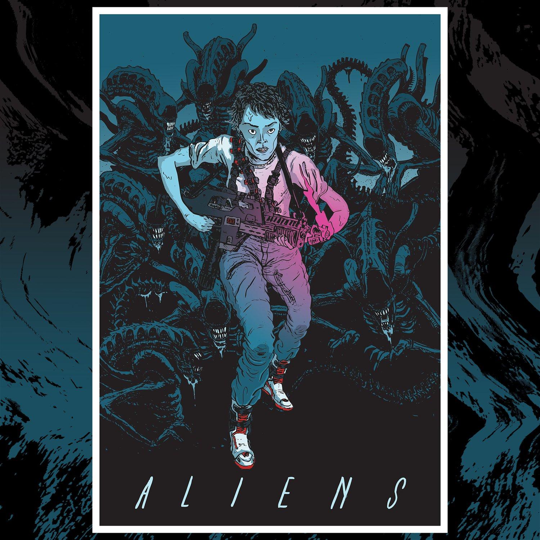 Image of ALIENS print