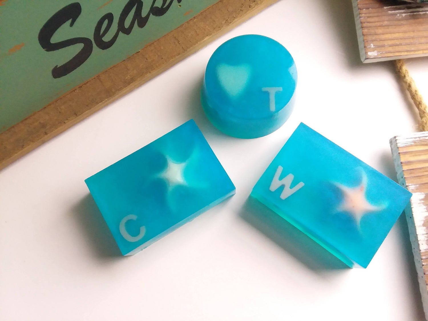 """Image of Coconut Milk Soap-All Natural Soap-Bespoke Gift Soaps-Handmade """"Personalized Soap""""-Gift wrapped"""