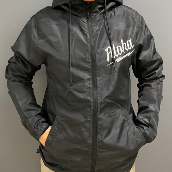 Image of ALOHA-waukee WIndbreaker BLACK CAMO