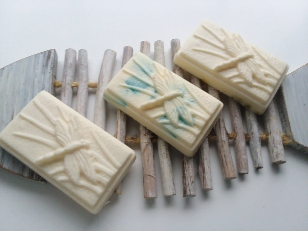 """Image of Coconut Milk Soap-""""Dragonfly Blue""""-Glycerin Soap w/Shea Butter-Lemongrass or Unscented"""