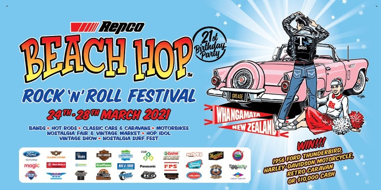 Image of Repco Beach Hop 21 Banner