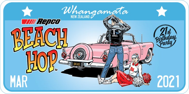 Image of Repco Beach Hop 21 License Plate