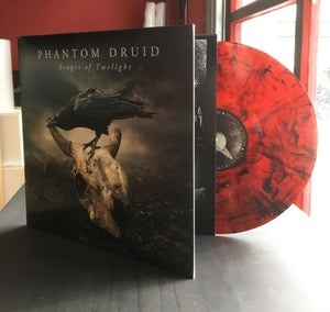 Image of PHANTOM DRUID - Stages of Twilight. LP - Gatefold - Transparent Red/Black Marbled Vinyl.