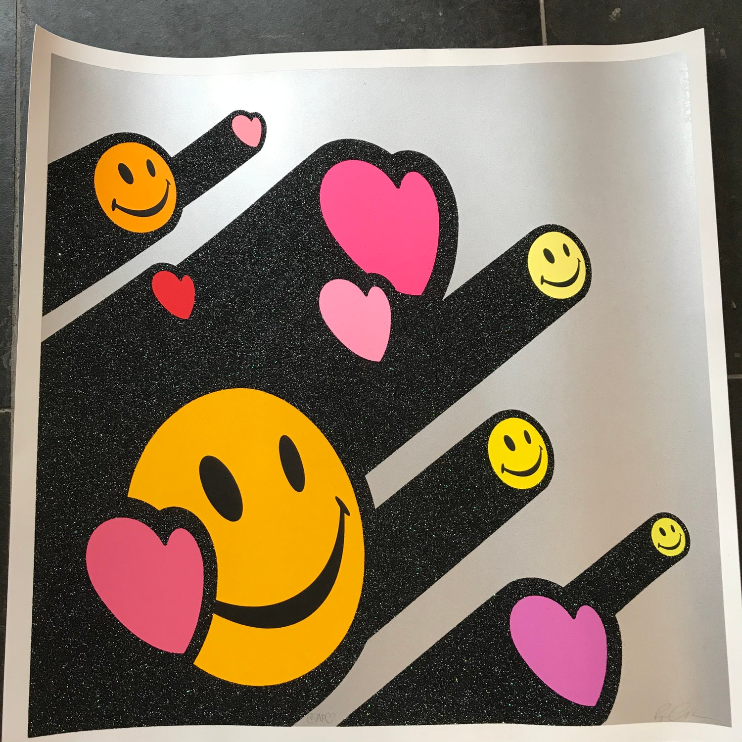 Image of Love and happiness pink