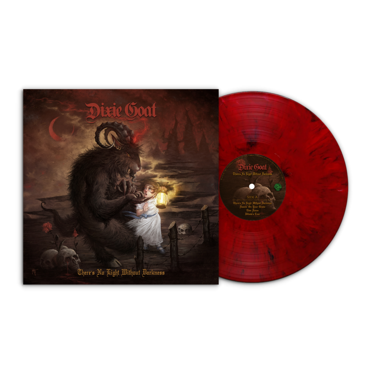 Image of Dixie Goat - There's No Light Without Darkness LTD Red Marbled Vinyl