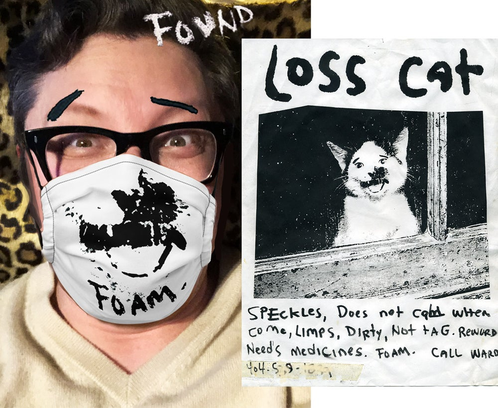 Image of New! Loss Cat Speckles Mask. Foam.