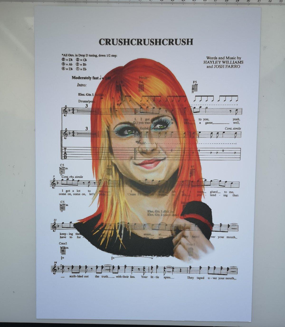 Hayley Williams Portrait Print