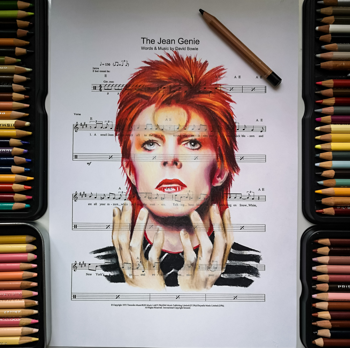 David Bowie Portrait Print
