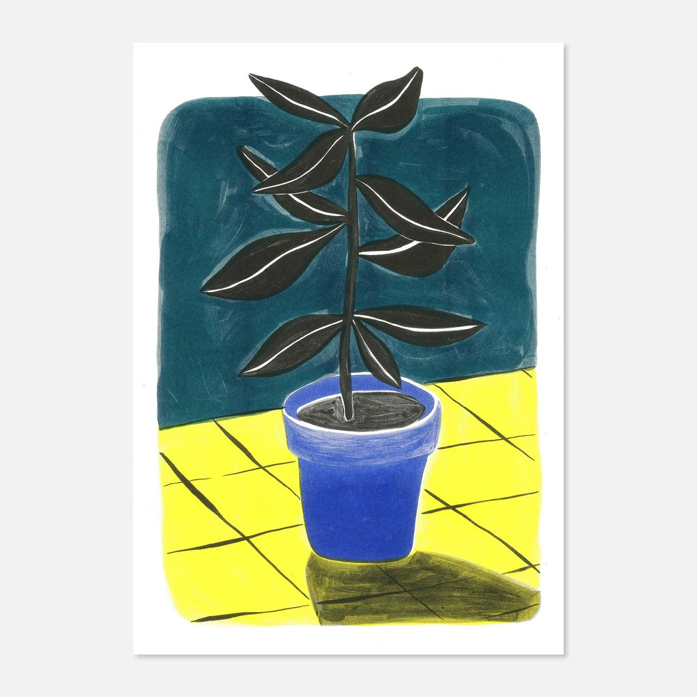 Image of Black Plant Risoprint