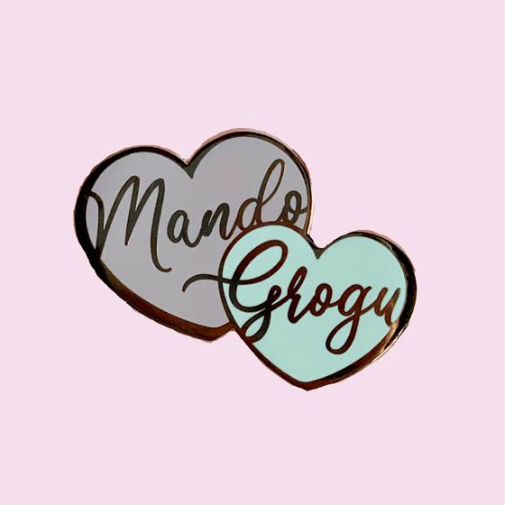Image of Grogu & Mando hearts