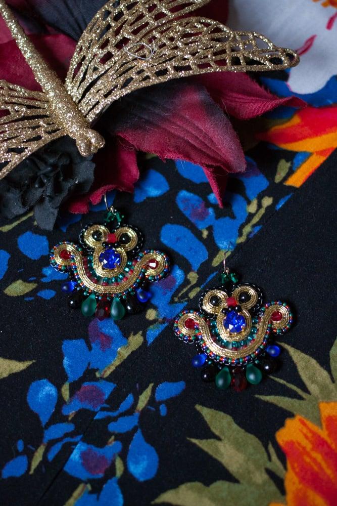 Image of Mini Earrings - Bizance - Metal edition