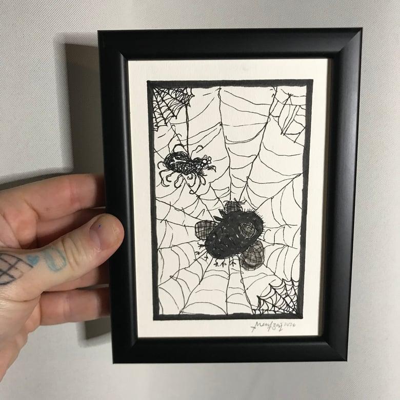 Image of SpiderKen (Original Drawing w/frame)