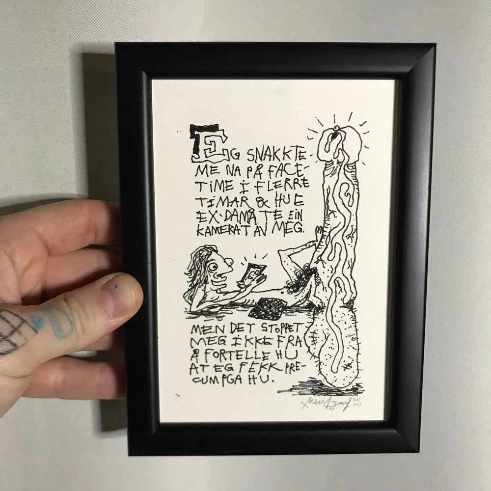 Image of Face Time (Original Drawing w/frame)
