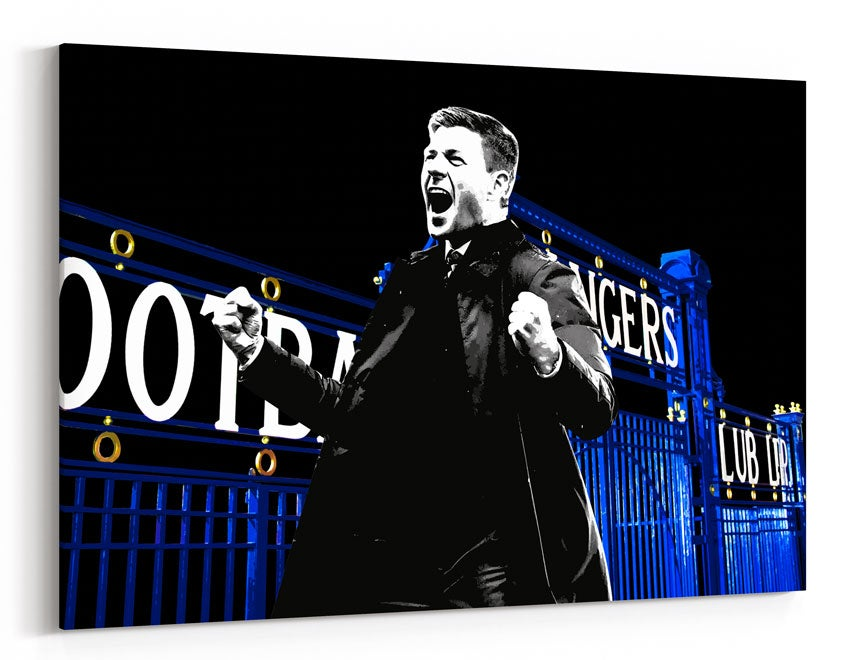Image of Steven Gerrard - Ibrox Celebration