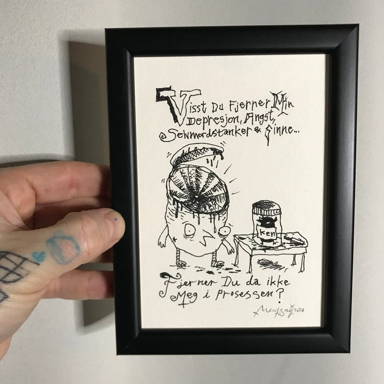 Image of Prosessen (Original Drawing w/frame)